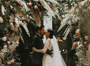 """Tayler and Josh Kirsch wed in the mountains of North Carolina, where the bride's family has a vacation home. """"The area around Highlands is widely know"""