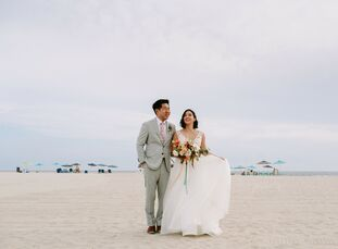 Karen and Jason got engaged on a secluded beach in Maui—and for their wedding, the pair decided to bring a slice of Hawaii back to their families in N