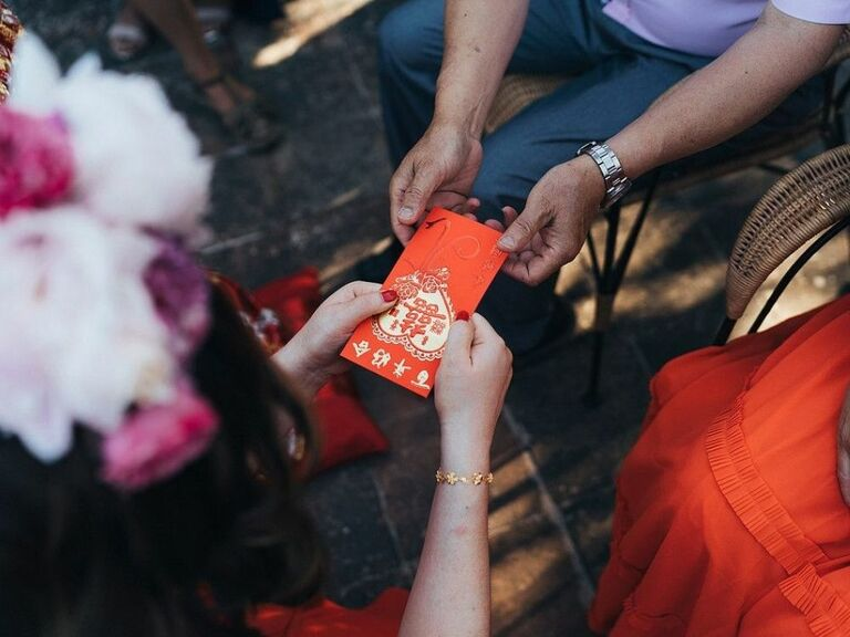 red envelope at Chinese wedding ceremony
