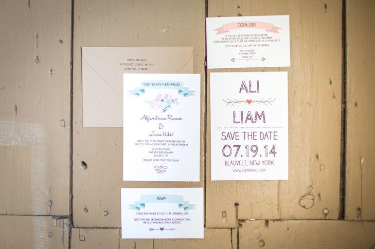 Vintage DIY Wedding Invitations