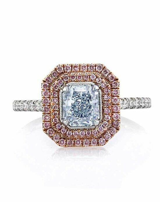 Mark Broumand 1.42ct Fancy Light Blue Radiant Cut Diamond Engagement Ring Engagement Ring photo