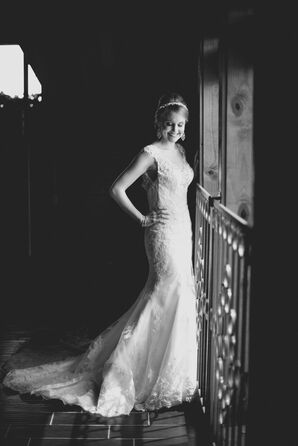 Lace Fit-and-Flare Wedding Dress