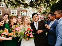 tropical vintage wedding in Seattle Washington