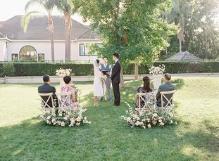After the COVID-19 pandemic forced Tiffany and James to scale back their original plans for a large wedding in northern California, they opted for an