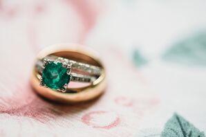 Emerald Engagement Ring for Missouri Wedding