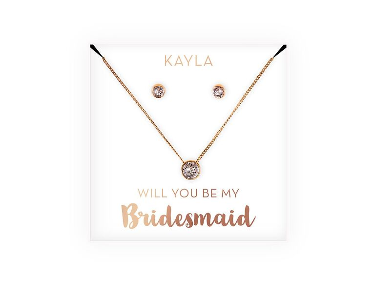 Affordable bridesmaid jewelry gift