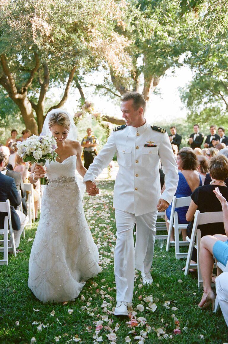 Military wedding recessional