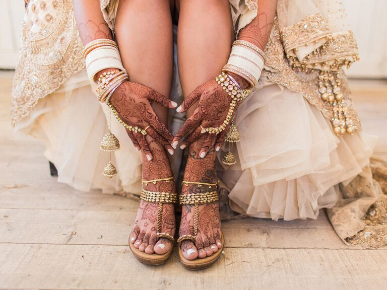 Hand and foot henna tattoos
