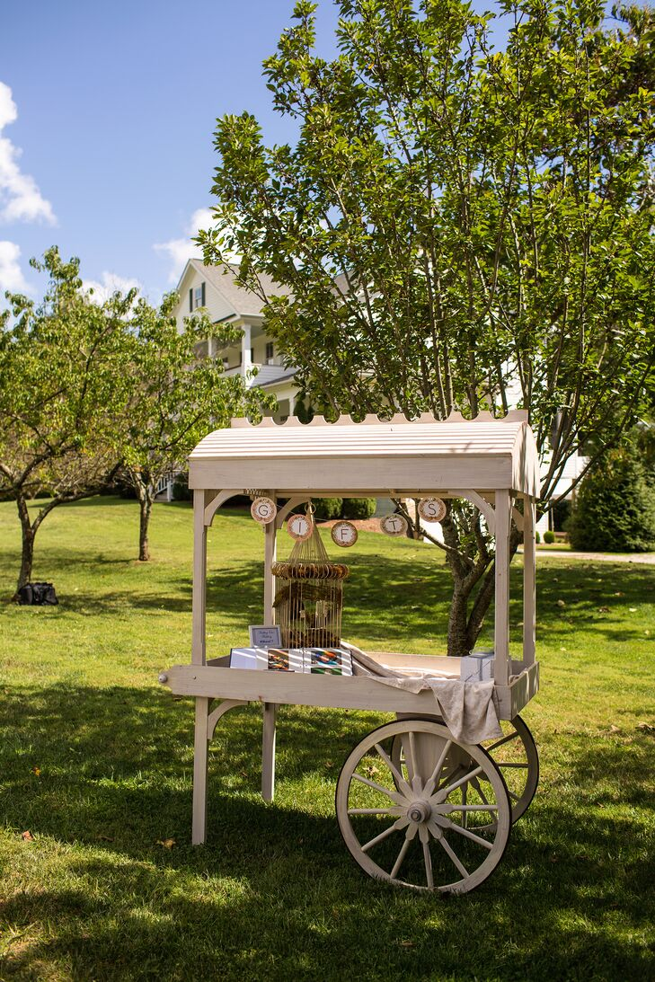 Vintage Wooden Cart Gift Table