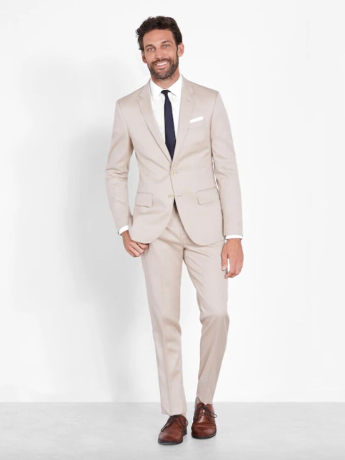 Tan suit and pants set