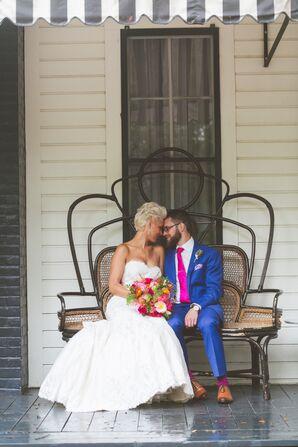 Matthew Christopher Trumpet-Style Wedding Dress