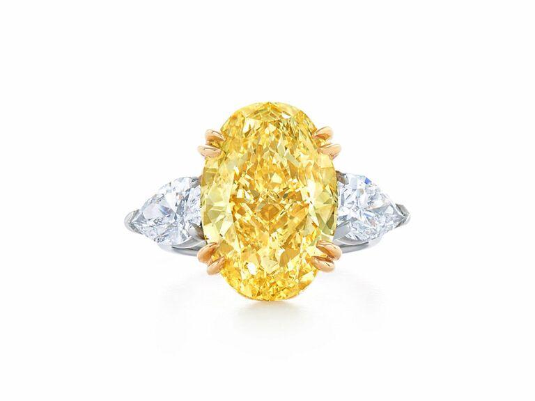 Kwiat three stone engagement ring