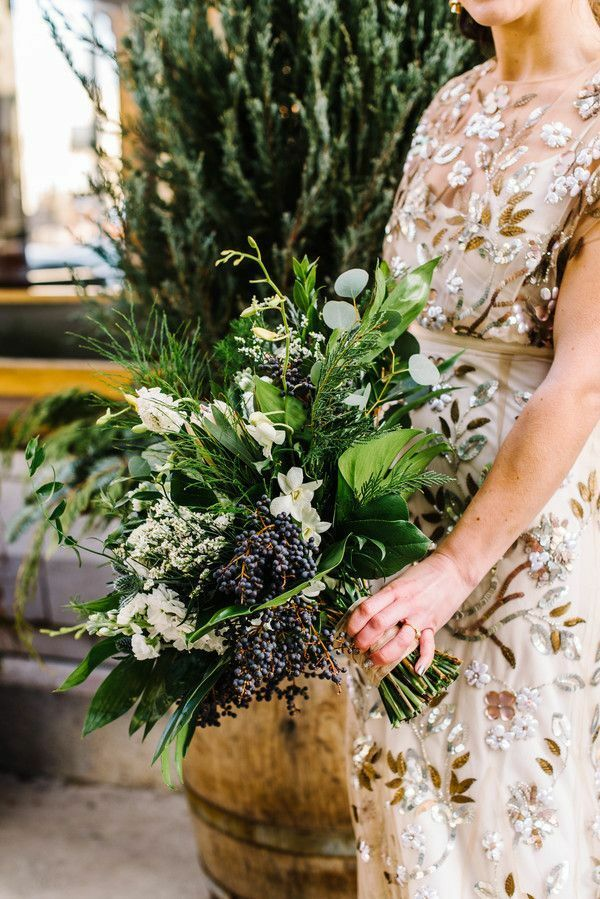 Bouquet with variety of greenery