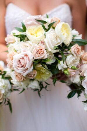 Ivory and Cream Rose Bridal Bouquet