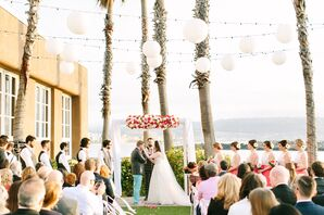 Colorful Arch at Whimsical Seaside Wedding