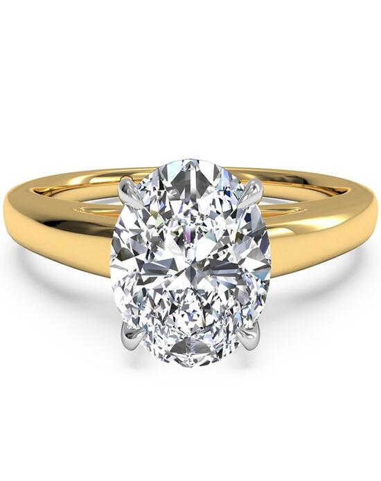 Ritani Solitaire Diamond Cathedral Engagement Ring - in 18kt Yellow Gold for a Oval Center Stone Engagement Ring photo