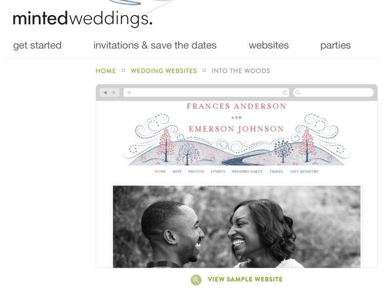 Minted Wedding Website templates