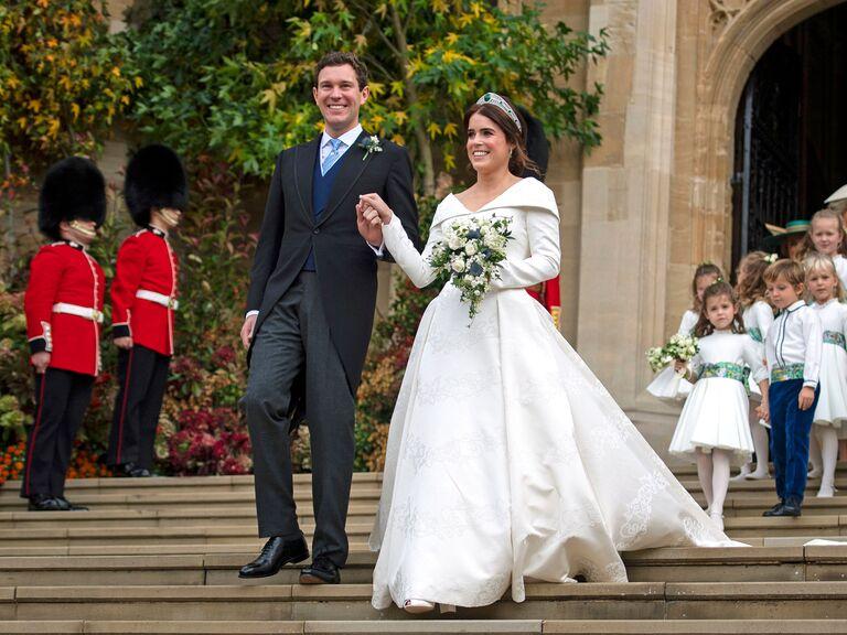 Princess Eugenie and Jack Brooksbank during their 2018 wedding.