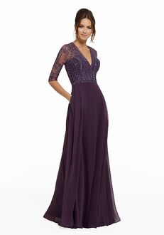 MGNY 72018 Purple,Gray,Blue Mother Of The Bride Dress