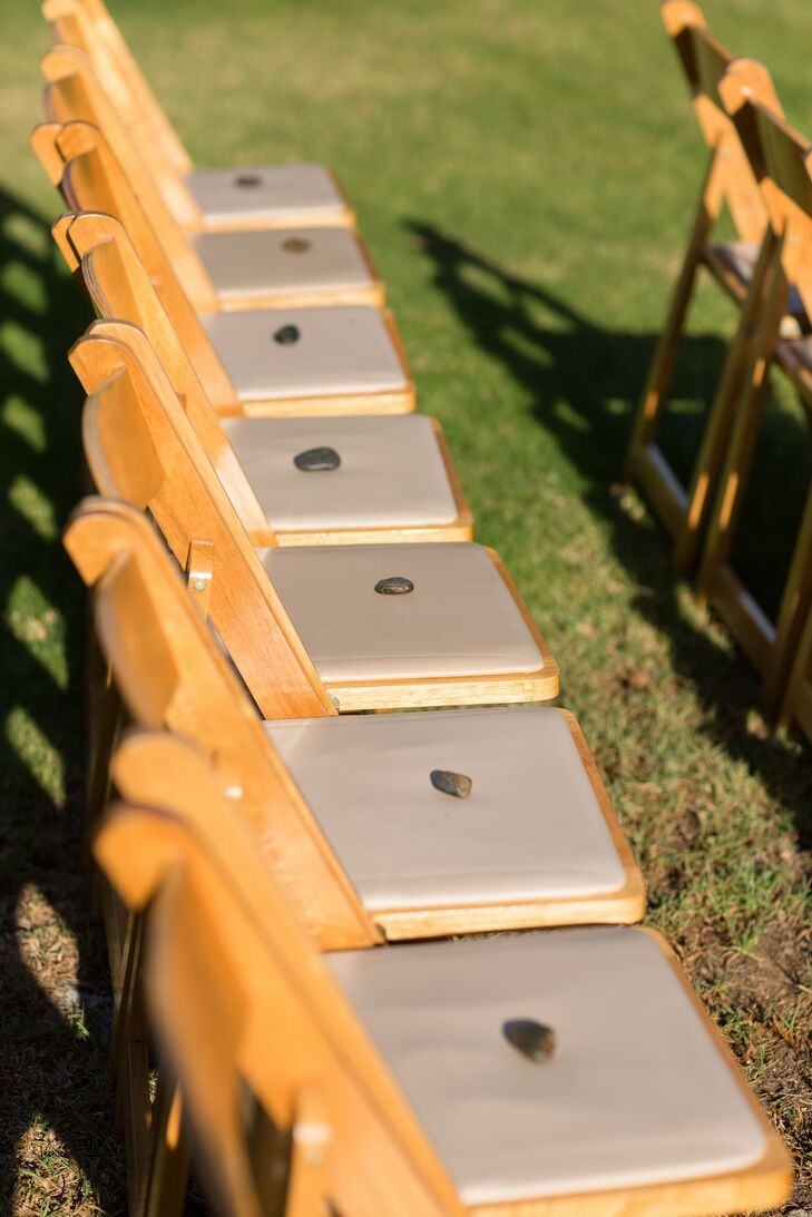 Ceremony Folding Chairs with Stones