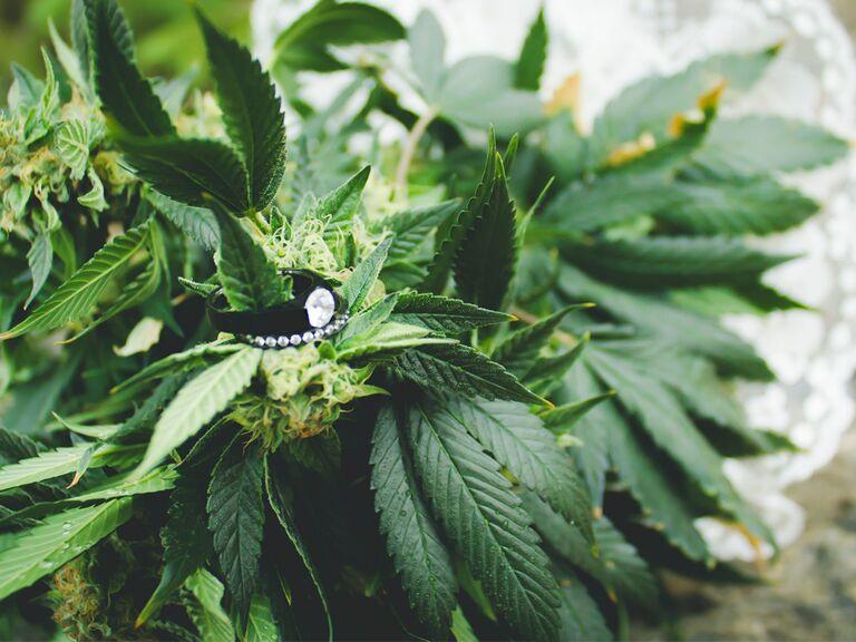 Marijuana wedding bouquet