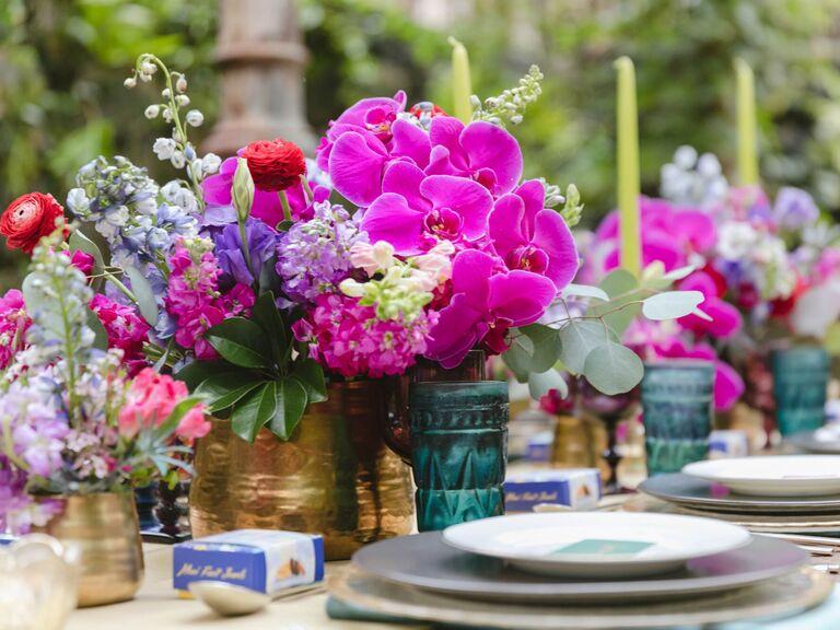 Wedding Centerpieces Vivid Colors