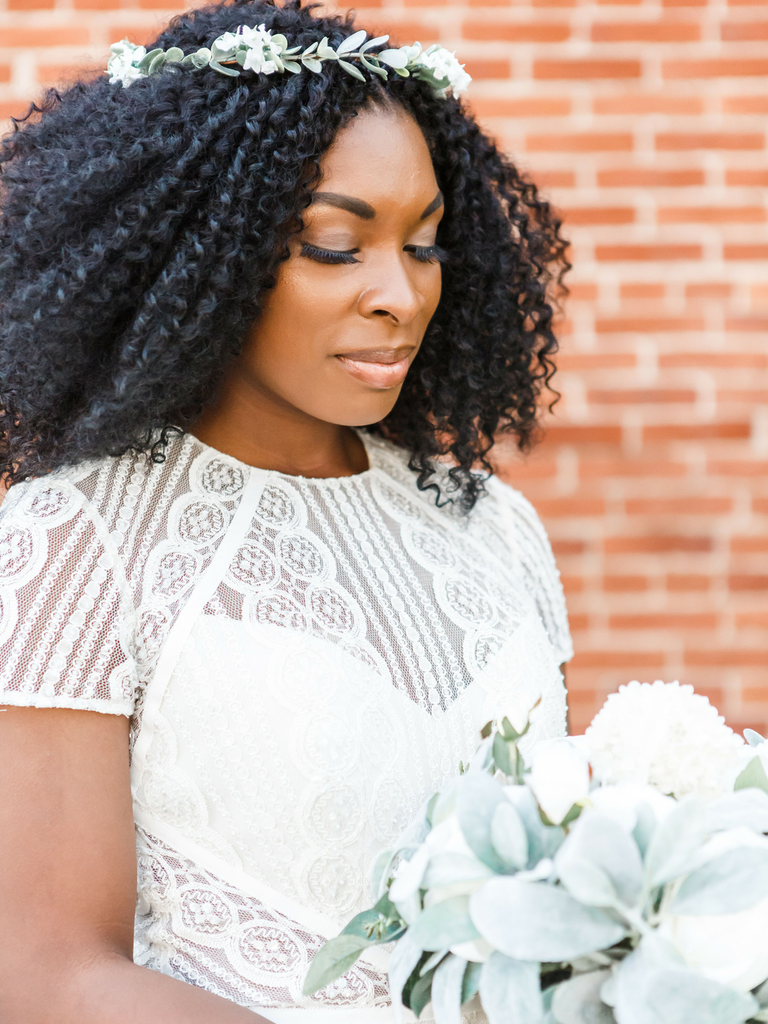country wedding hairstyles down with flower crown