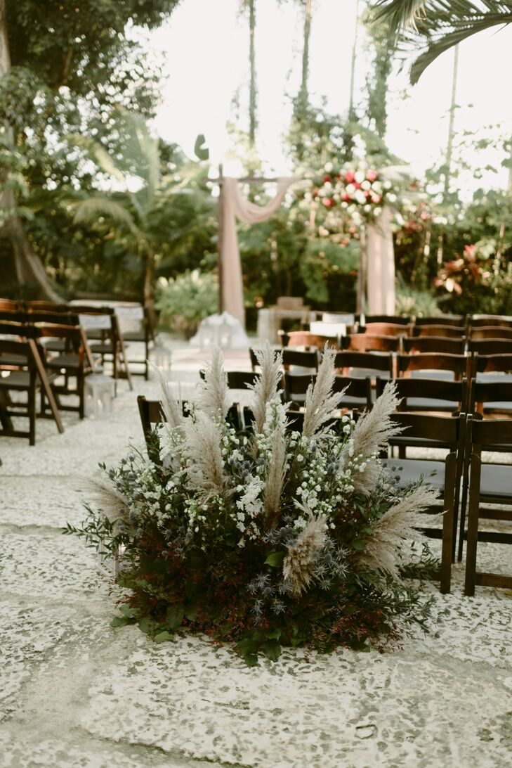 Vintage and Rustic Aisle Decorations with Greenery
