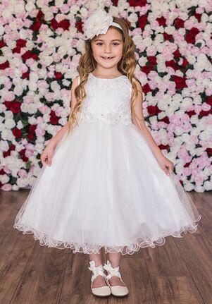 Kid's Dream 468 Ivory,White Flower Girl Dress