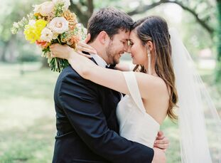 Erica and Chris Ladner planned a timeless and classic day inspired largely by their location (New Orleans) and the season (spring). A cheerful yellow