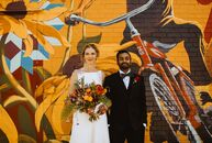 For their eclectic wedding at The Rattlesnake Club in Detroit, Michigan, Brianna and Pavan beautifully blended aspects from their faiths and celebrate