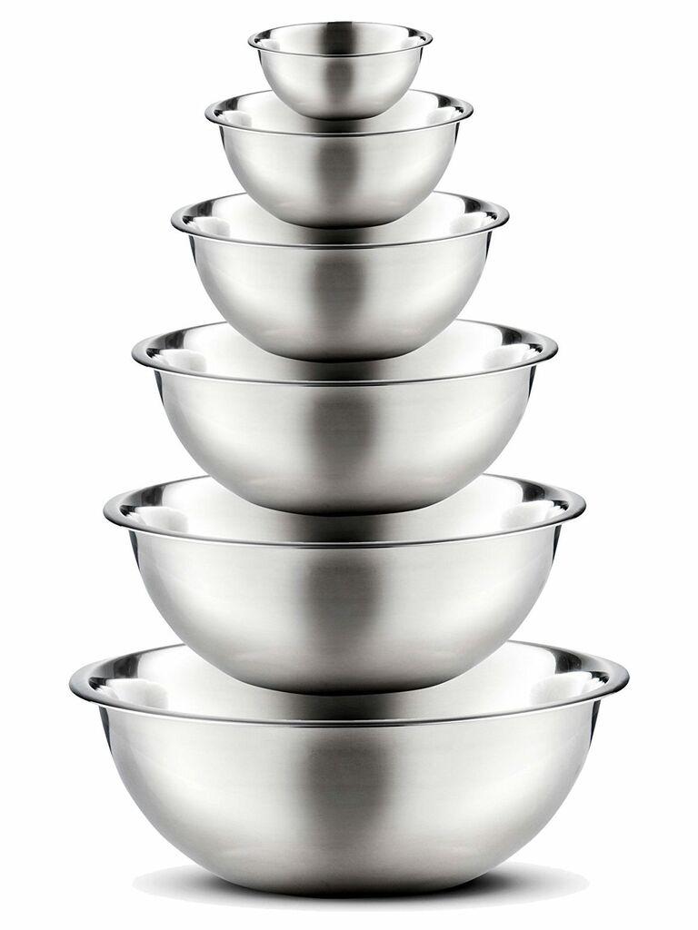 FINEDINE premium stainless steel mixing bowls Amazon wedding registry gift