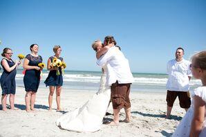 Ashley and Dustin's Folly Beach First Kiss