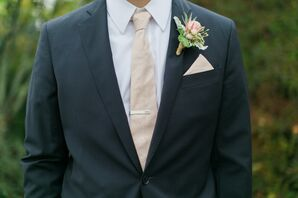 Navy Brooks Brothers Suite with Light Pink Tie