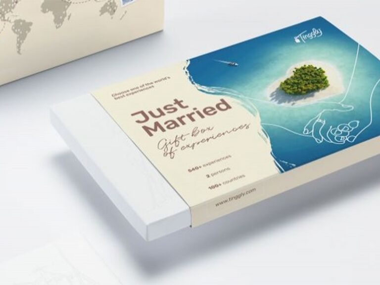 Just Married experience gift box