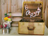 suitcase wedding card box