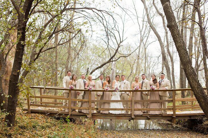 Beige Floor-Length Allure Bridesmaid Dresses