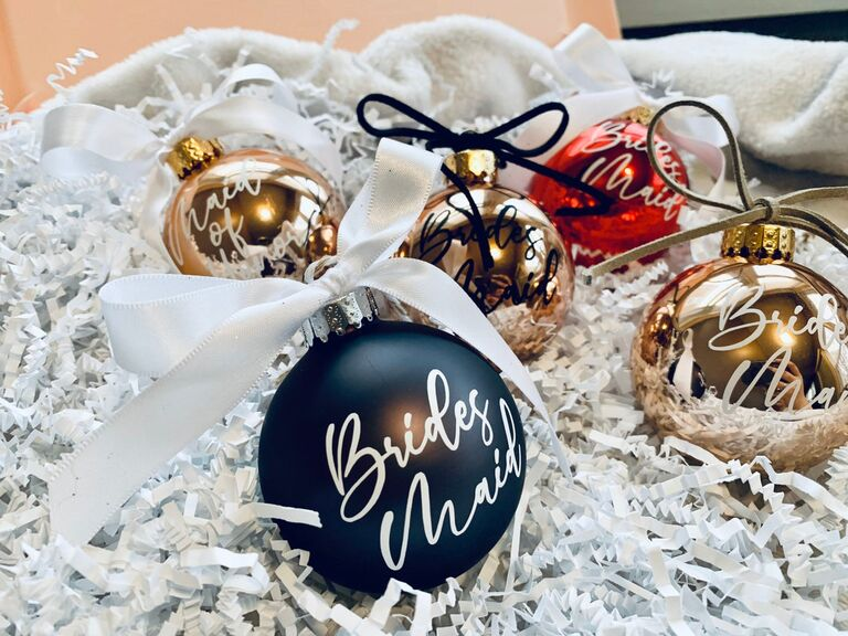 Bridesmaid Christmas ornament