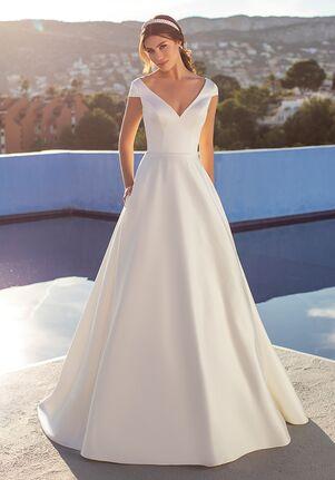 WHITE ONE ESSENTIALS FLORA A-Line Wedding Dress