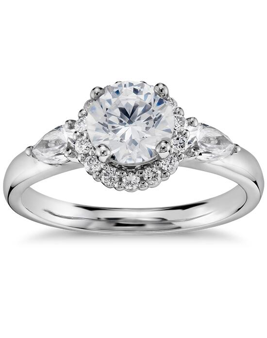 Truly Zac Posen  Halo Diamond Engagement Ring  Engagement Ring photo
