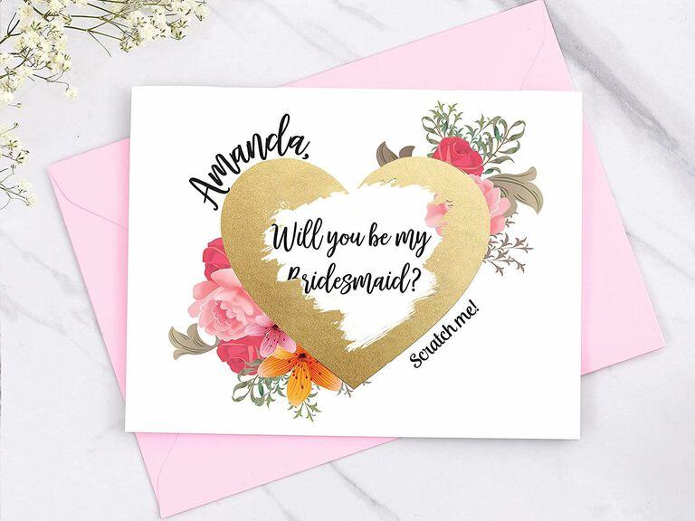 scratch off bridesmaid proposal card