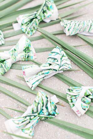 Monstera Leaf Bow Ties