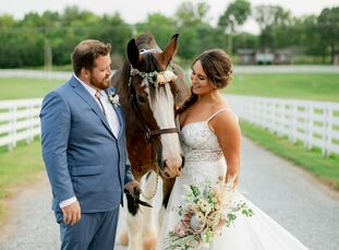 For their barn wedding at Saddle Wood Farms in Murfreesboro, Tennessee, Sheila and Brent chose a boho-meets-country theme, drawing inspiration from mu