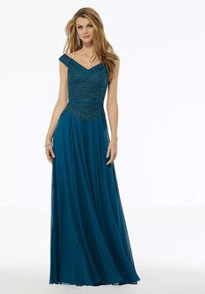 MGNY 72134 Blue,Silver,Purple Mother Of The Bride Dress