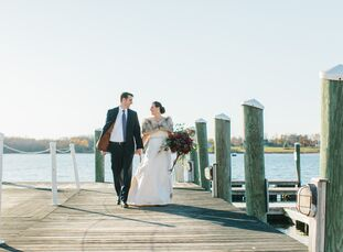 Rachel Powers (37 and a history teacher) and John Baldaserini (39 and a web developer) planned a sophisticated fall wedding with undeniable old-world