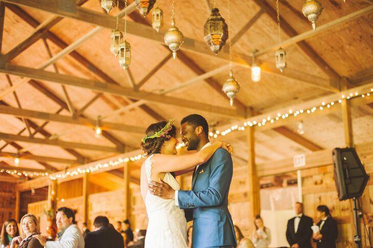 "Eleanor and Kevin danced to ""Desert Sunrise"" by Brett Dennen for their first dance."