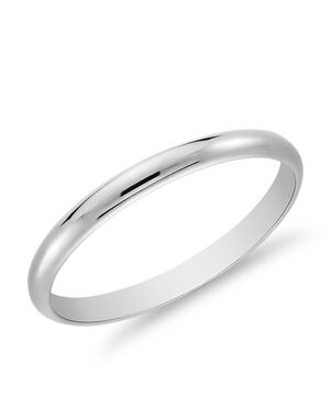 Blue Nile 19992 White Gold Wedding Ring