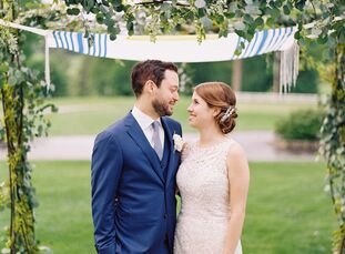 Molly Coplan (29 and works in philanthropy) and Gabriel Doran's (34 and works in advertising technology sales) garden party was embellished with lush,