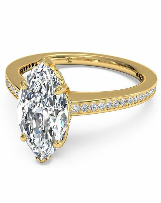 Ritani Marquise Cut Micropave Diamond Band Engagement Ring in 18kt Yellow Gold (0.20 CTW) Engagement Ring photo