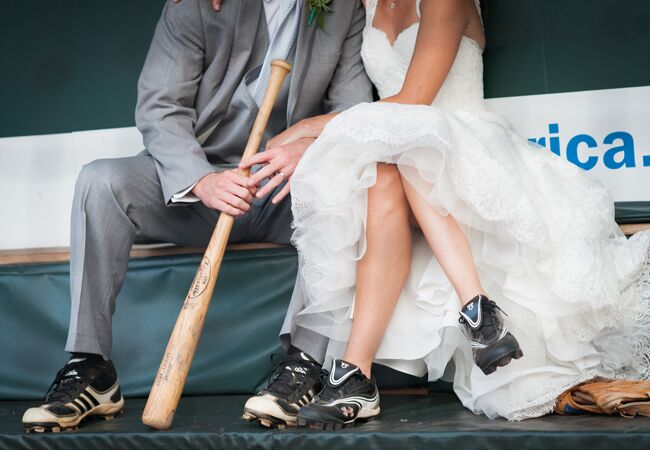 Baseball Cleats | Artful Weddings | Blog.theknot.com